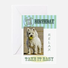 West Highland Terrier Birthday Card Greeting Cards