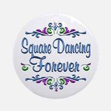 Square Dancing Forever Ornament (Round)