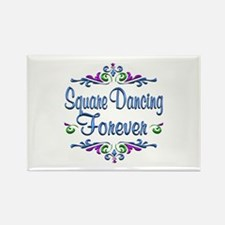 Square Dancing Forever Rectangle Magnet