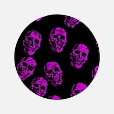 """Purple SKULLS 3.5"""" Button"""