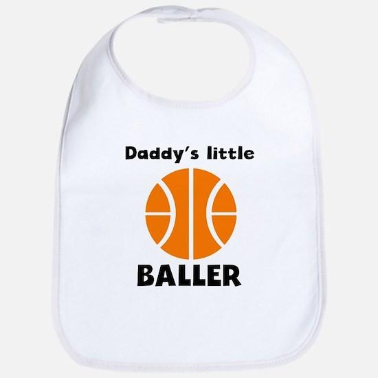 Daddys Little Baller Bib