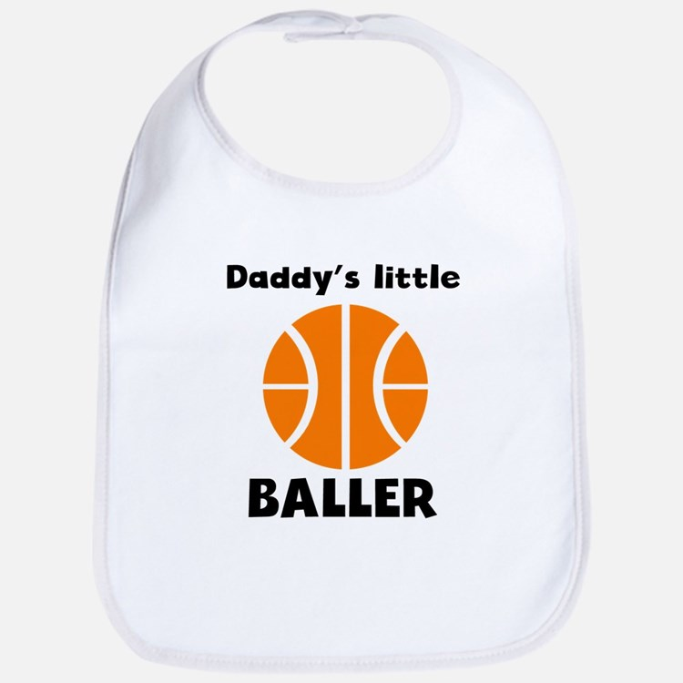 Daddys Little Baller Bib