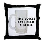 Beer Refill Throw Pillow