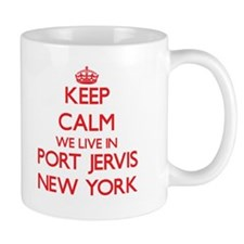 Keep calm we live in Port Jervis New York Mugs