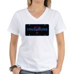 YRUSODUMB? Women's V-Neck T-Shirt