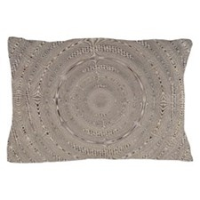 Burlap Swirled Pillow Case