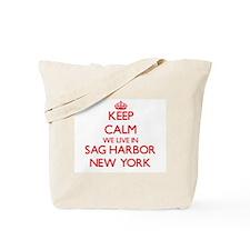 Keep calm we live in Sag Harbor New York Tote Bag