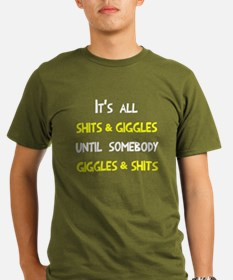 All shits and giggles Organic Men's T-Shirt (dark)