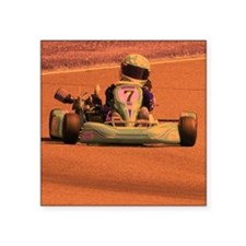 "Kart Racing  Square Sticker 3"" x 3"""