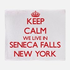 Keep calm we live in Seneca Falls Ne Throw Blanket