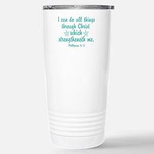 Phillipians 4:13 Stainless Steel Travel Mug