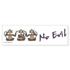Monkey Bumper Sticker: No Evil