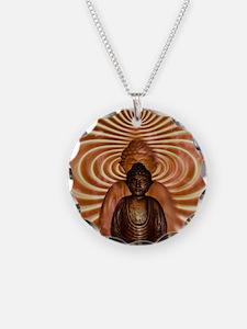 Buddha Necklace Circle Charm