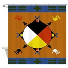 Cherokee Four Directions Shower Curtain