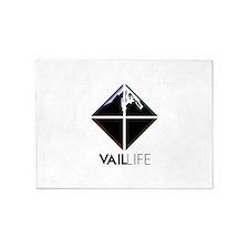 VailLIFE Addiction V 5'x7'Area Rug