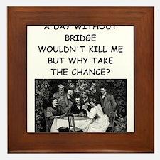 duplicate bridge Framed Tile