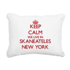 Keep calm we live in Ska Rectangular Canvas Pillow