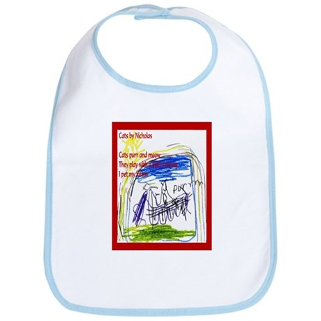 Haiku Cats Bib by Nicholas