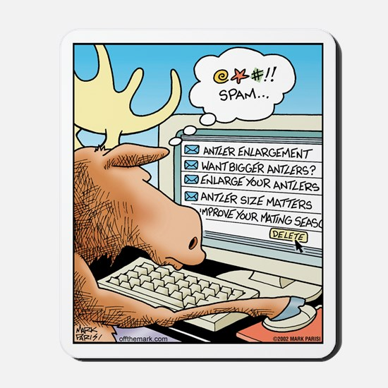 Moose S*X Spam Mousepad