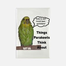 """Parakeet Humor #10"" Rectangle Magnet"