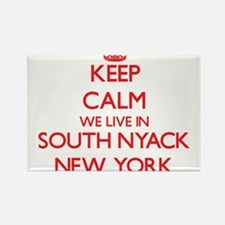 Keep calm we live in South Nyack New York Magnets