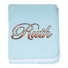 Gold Ruth baby blanket