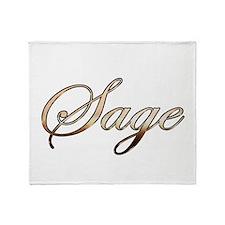 Gold Sage Throw Blanket