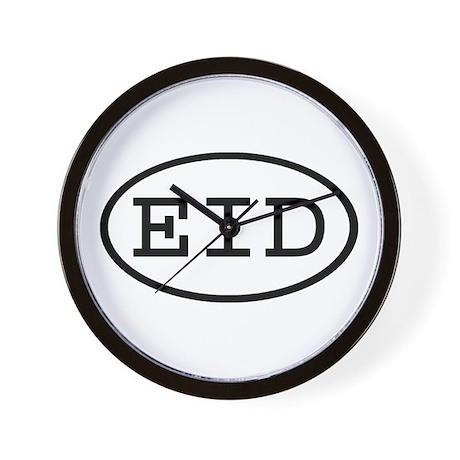 EID Oval Wall Clock