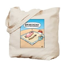 Pig - Bacon - Sunscreen Tote Bag