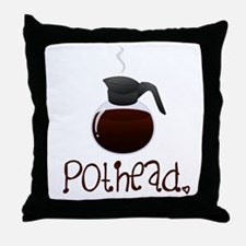 Pothead Throw Pillow