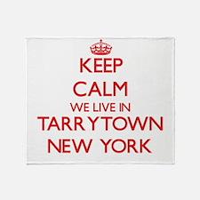 Keep calm we live in Tarrytown New Y Throw Blanket