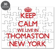 Keep calm we live in Thomaston New York Puzzle