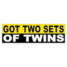 GOT 2 SETS OF TWINS Bumper Bumper Bumper Sticker