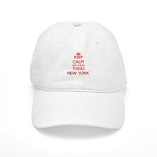 Keep calm we live in Tivoli New York Baseball Cap