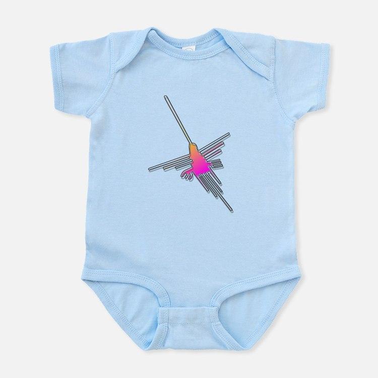 Flying Nazca Lines Hummingbird Body Suit