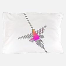 Flying Nazca Lines Hummingbird Pillow Case