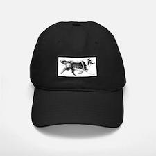 Running Collie Baseball Hat