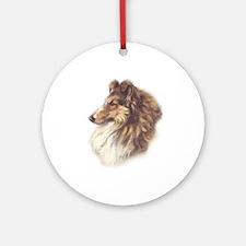 Collie Ornament (Round)