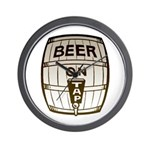 Beer On Tap Wall Clock