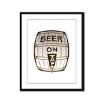 Beer On Tap Framed Panel Print