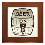 Beer On Tap Framed Tile