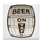 Beer On Tap Tile Coaster