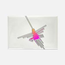 Flying Nazca Lines Hummingbird Magnets