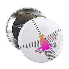 "Flying Nazca Lines Hummingbird 2.25"" Button"