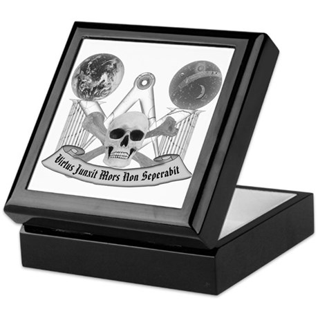 Masonic virtue in black and white Keepsake Box