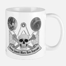 Masonic virtue in black and white Mug