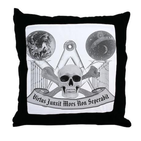 Masonic virtue in black and white Throw Pillow