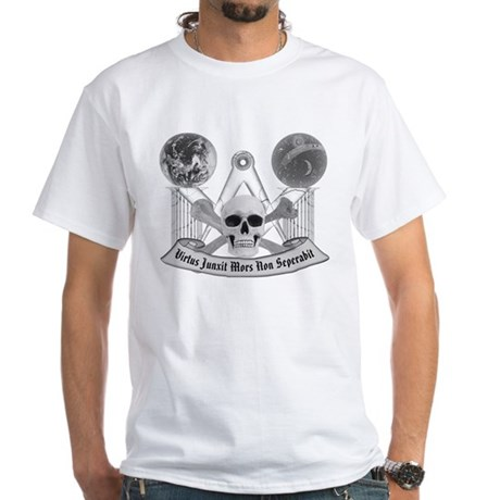 Masonic virtue in black and white White T-Shirt