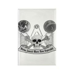 Masonic virtue in black and white Rectangle Magnet