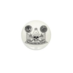 Masonic virtue in black and white Mini Button (100